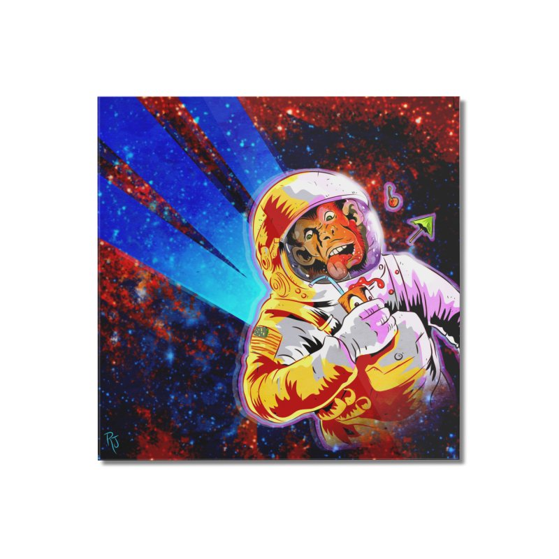 SPACE CHIMP Home Mounted Acrylic Print by Zerostreet's Artist Shop