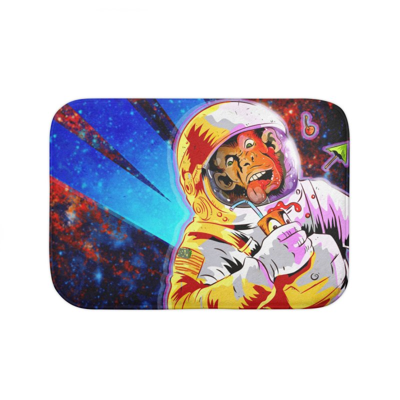 SPACE CHIMP Home Bath Mat by Zerostreet's Artist Shop