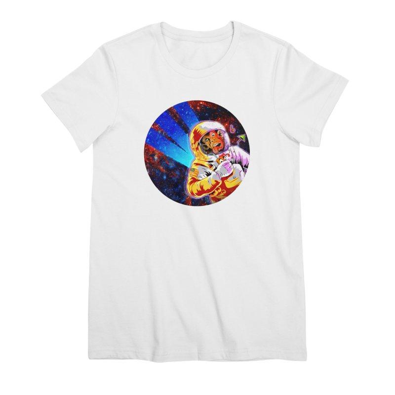 SPACE CHIMP Women's Premium T-Shirt by Zero Street's Artist Shop