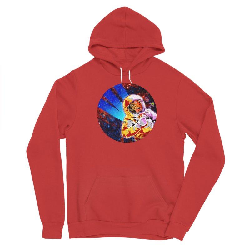 SPACE CHIMP Men's Sponge Fleece Pullover Hoody by Zerostreet's Artist Shop
