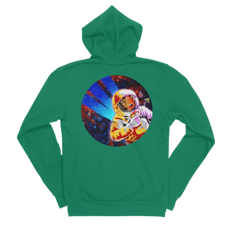 SPACE CHIMP Women's Sponge Fleece Zip-Up Hoody by Zero Street's Artist Shop