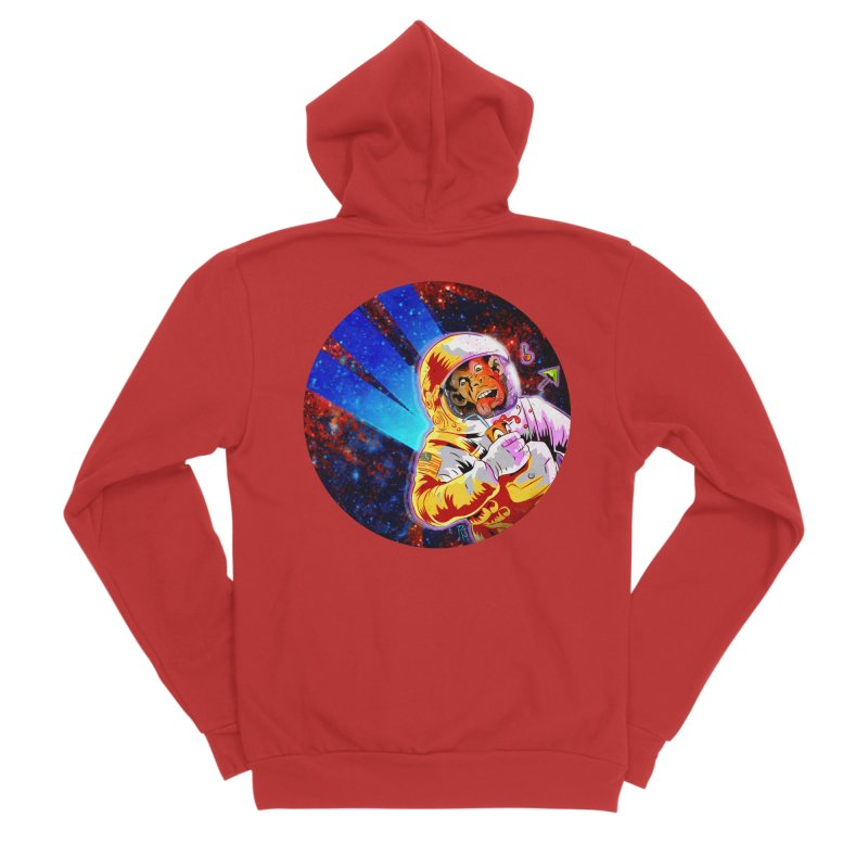 SPACE CHIMP Men's Sponge Fleece Zip-Up Hoody by Zero Street's Artist Shop