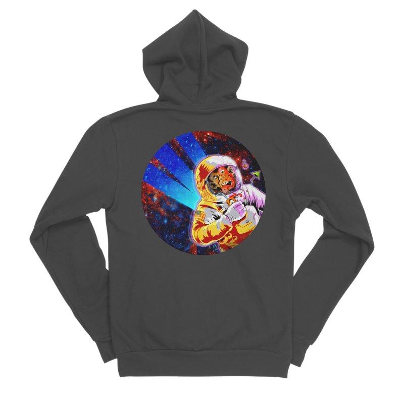 SPACE CHIMP Men's Sponge Fleece Zip-Up Hoody by Zerostreet's Artist Shop