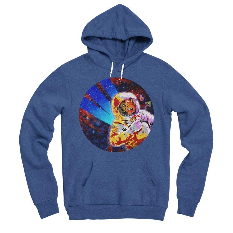 SPACE CHIMP Men's Sponge Fleece Pullover Hoody by Zero Street's Artist Shop