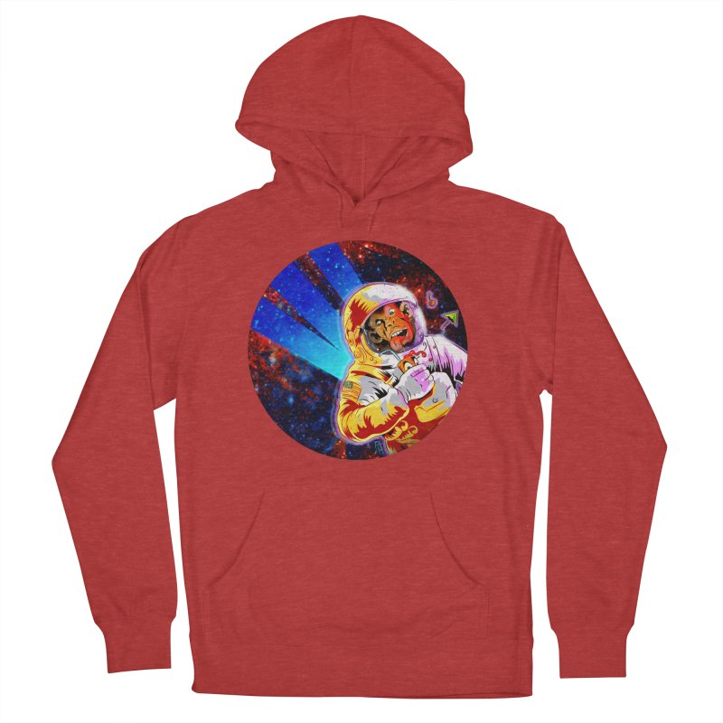 SPACE CHIMP Women's French Terry Pullover Hoody by Zerostreet's Artist Shop