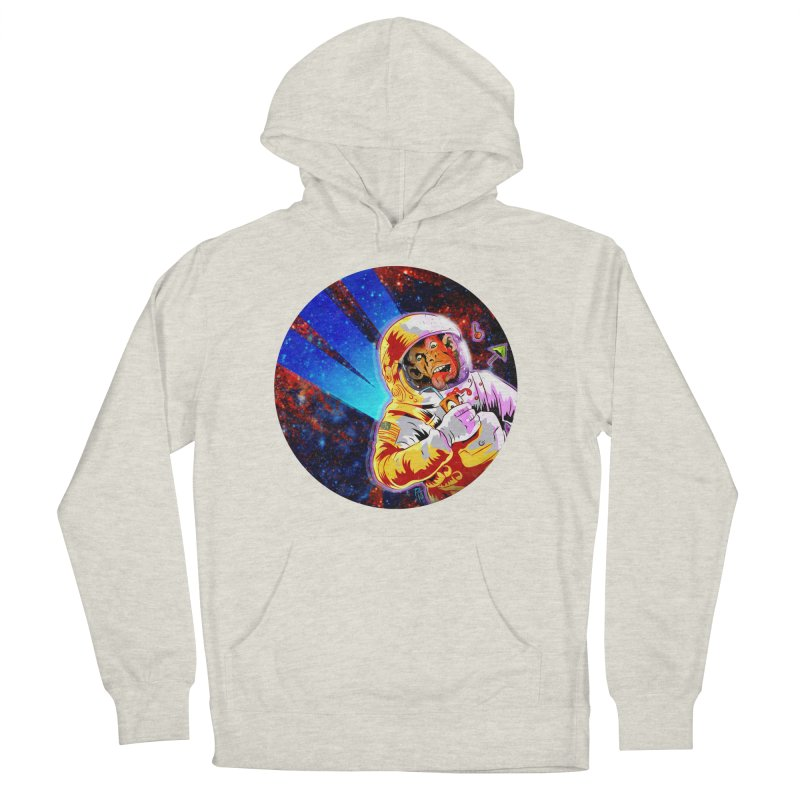 SPACE CHIMP Women's French Terry Pullover Hoody by Zero Street's Artist Shop