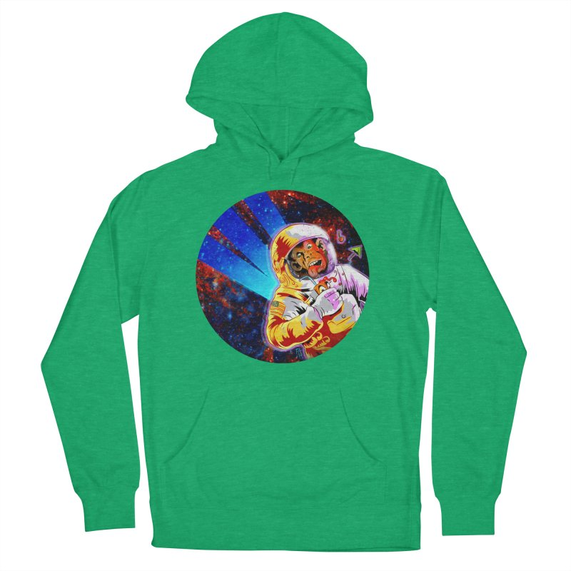 SPACE CHIMP Men's French Terry Pullover Hoody by Zero Street's Artist Shop