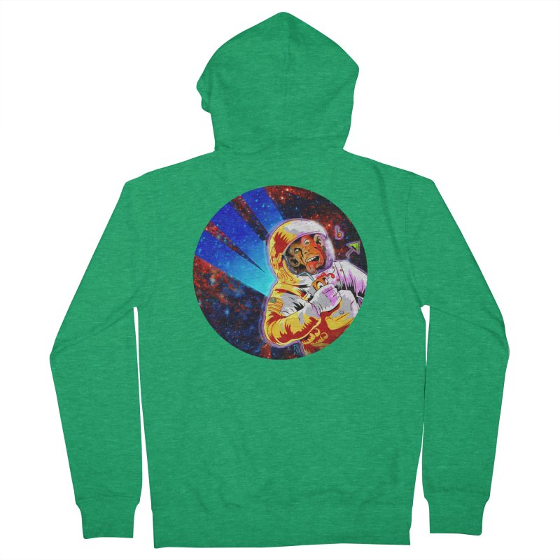 SPACE CHIMP Men's French Terry Zip-Up Hoody by Zerostreet's Artist Shop
