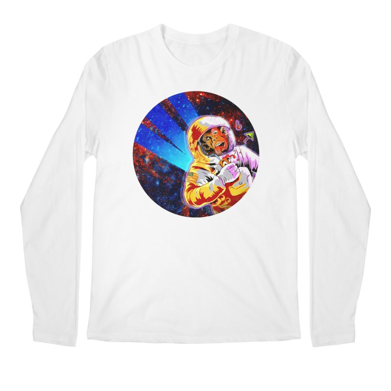SPACE CHIMP Men's Regular Longsleeve T-Shirt by Zerostreet's Artist Shop