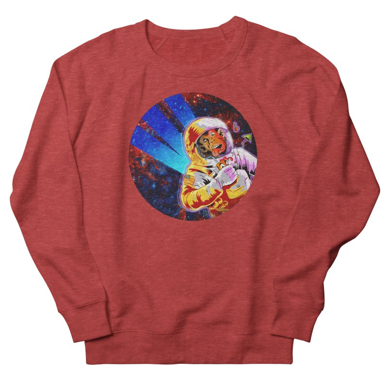 SPACE CHIMP Women's French Terry Sweatshirt by Zero Street's Artist Shop