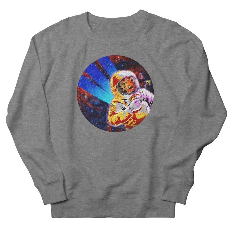 SPACE CHIMP Men's French Terry Sweatshirt by Zerostreet's Artist Shop