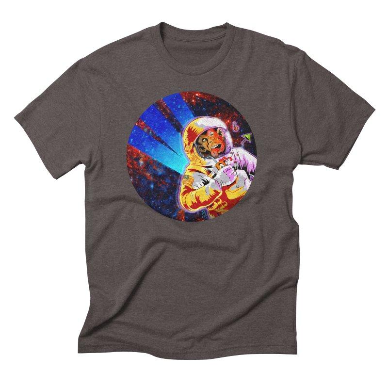SPACE CHIMP Men's Triblend T-Shirt by Zerostreet's Artist Shop