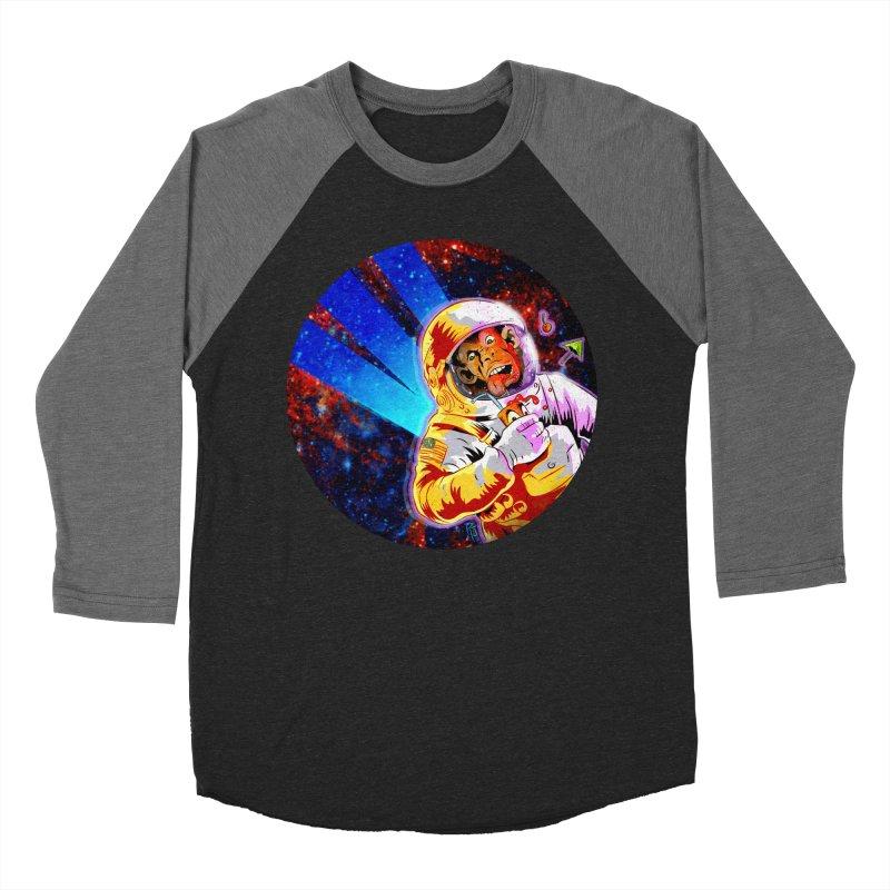SPACE CHIMP Women's Baseball Triblend Longsleeve T-Shirt by Zero Street's Artist Shop