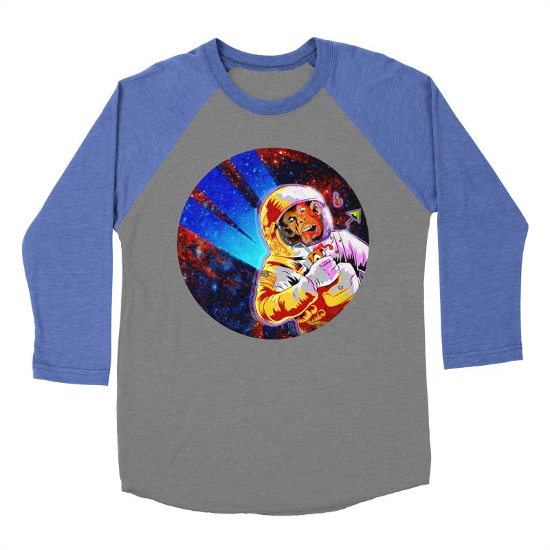 SPACE CHIMP Men's Baseball Triblend Longsleeve T-Shirt by Zero Street's Artist Shop