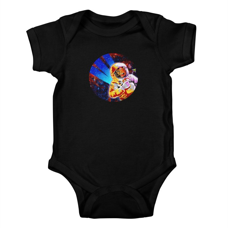 SPACE CHIMP Kids Baby Bodysuit by Zerostreet's Artist Shop