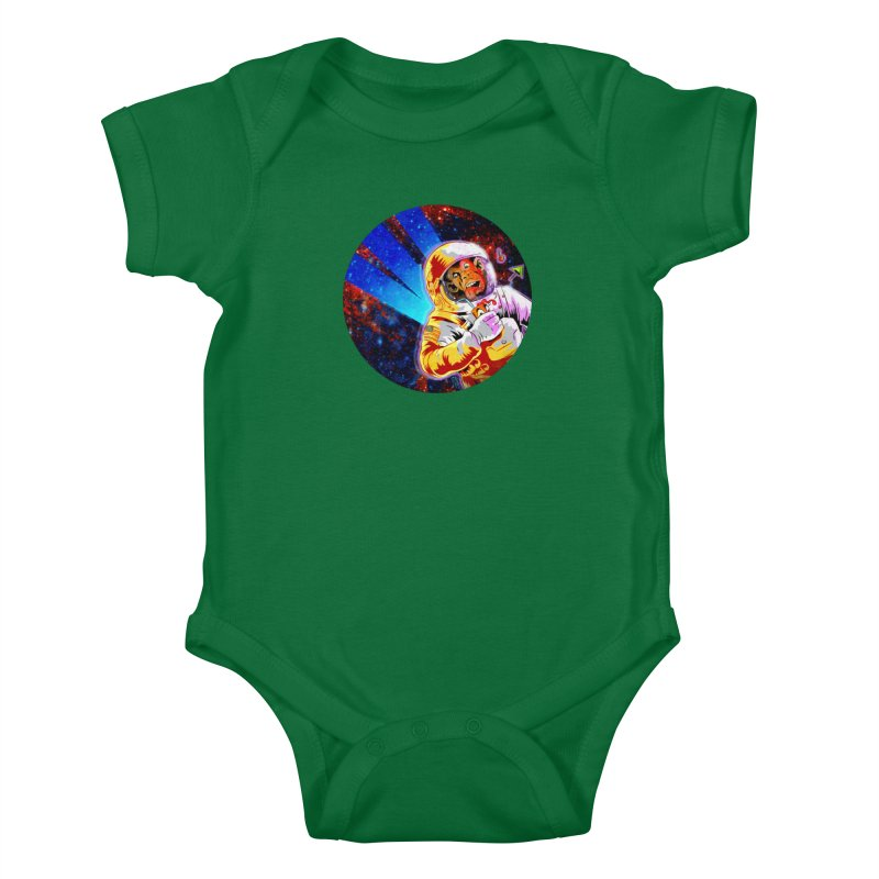 SPACE CHIMP Kids Baby Bodysuit by Zero Street's Artist Shop