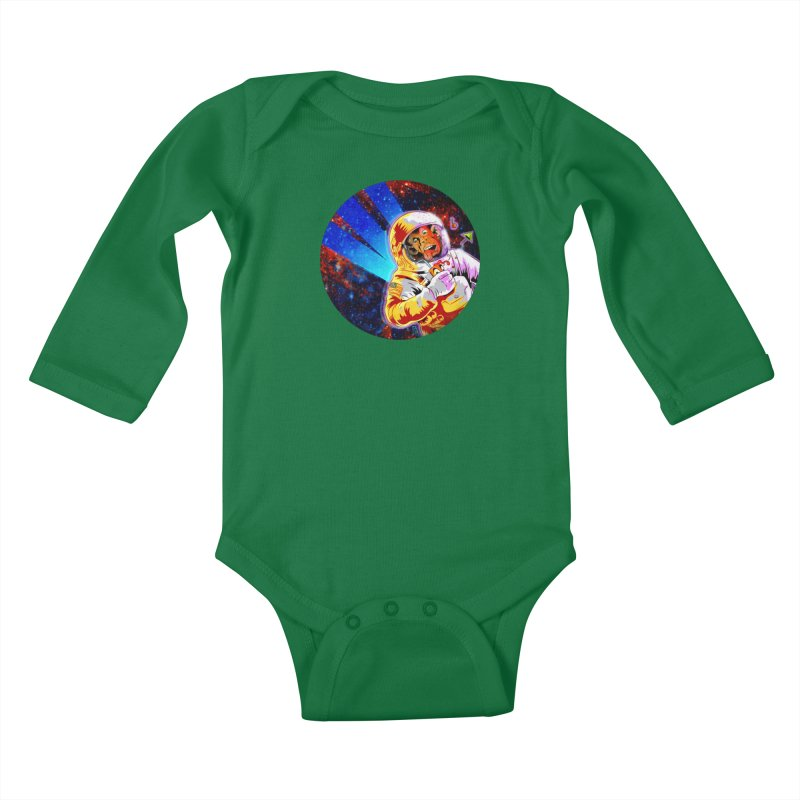 SPACE CHIMP Kids Baby Longsleeve Bodysuit by Zerostreet's Artist Shop