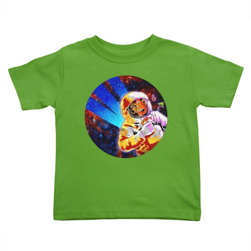 SPACE CHIMP Kids Toddler T-Shirt by Zerostreet's Artist Shop