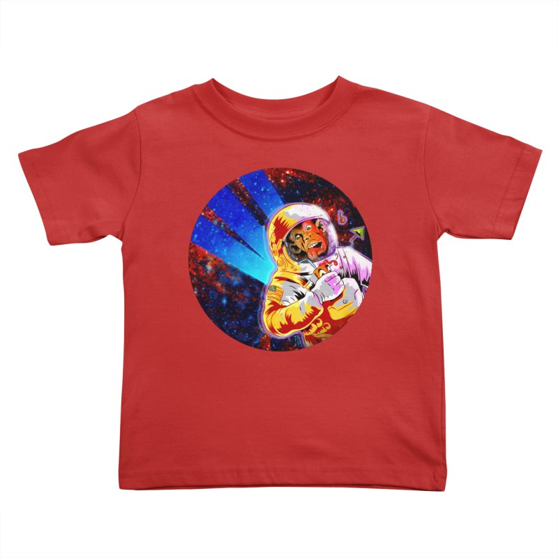 SPACE CHIMP Kids Toddler T-Shirt by Zerostreet's Artist Shop