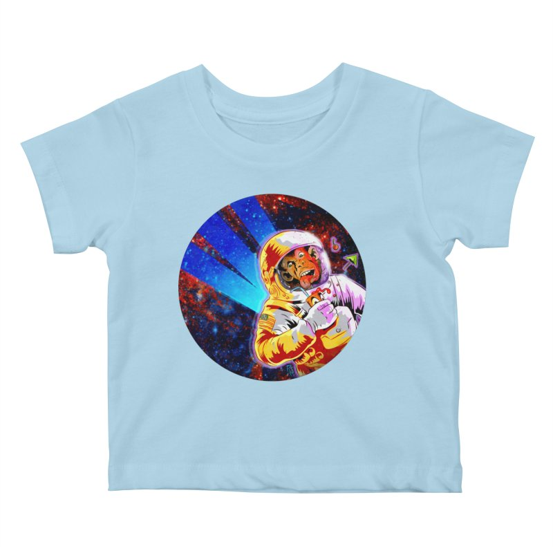 SPACE CHIMP Kids Baby T-Shirt by Zerostreet's Artist Shop