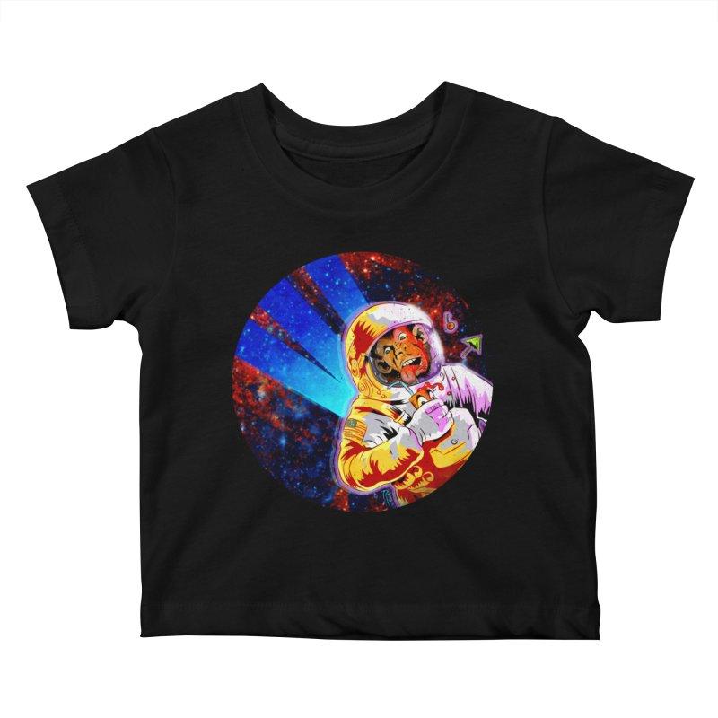 SPACE CHIMP Kids Baby T-Shirt by Zerostreet's Artist Shop