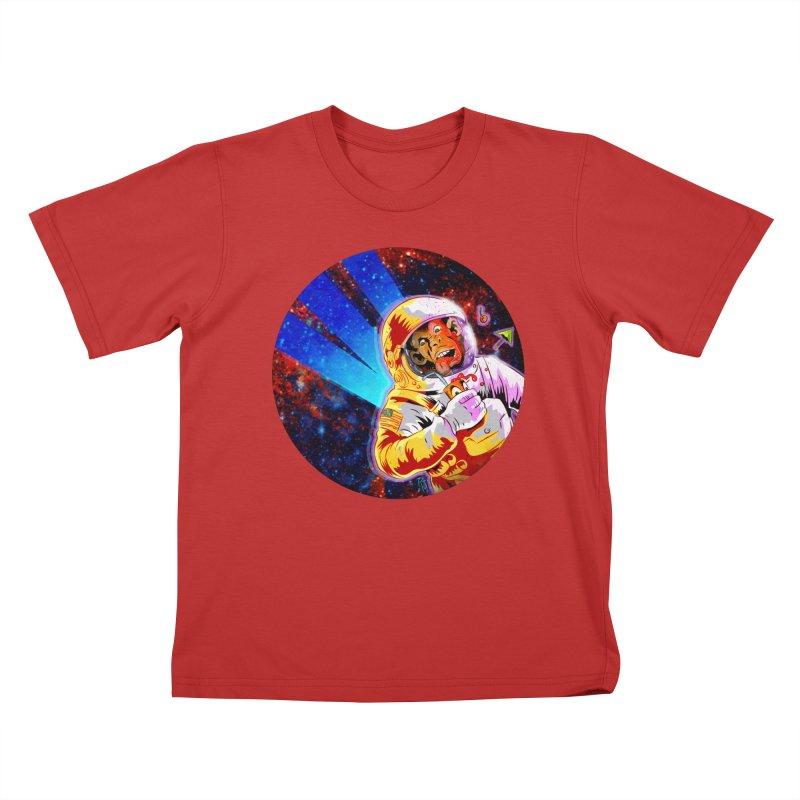 SPACE CHIMP Kids T-Shirt by Zero Street's Artist Shop