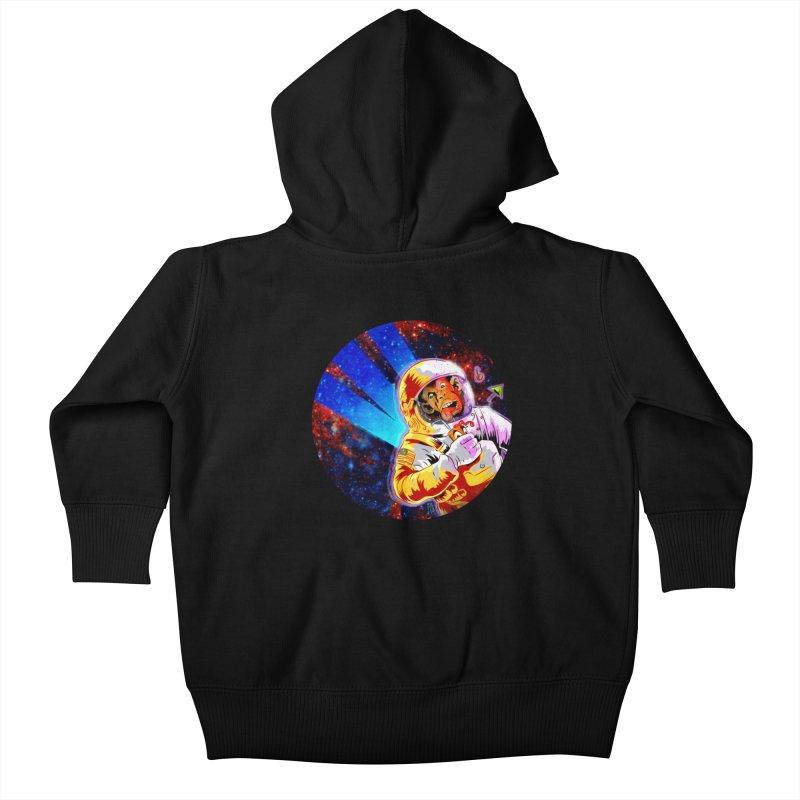 SPACE CHIMP Kids Baby Zip-Up Hoody by Zerostreet's Artist Shop