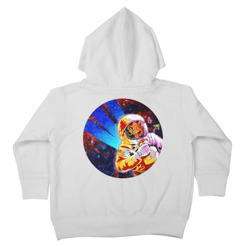 SPACE CHIMP Kids Toddler Zip-Up Hoody by Zerostreet's Artist Shop