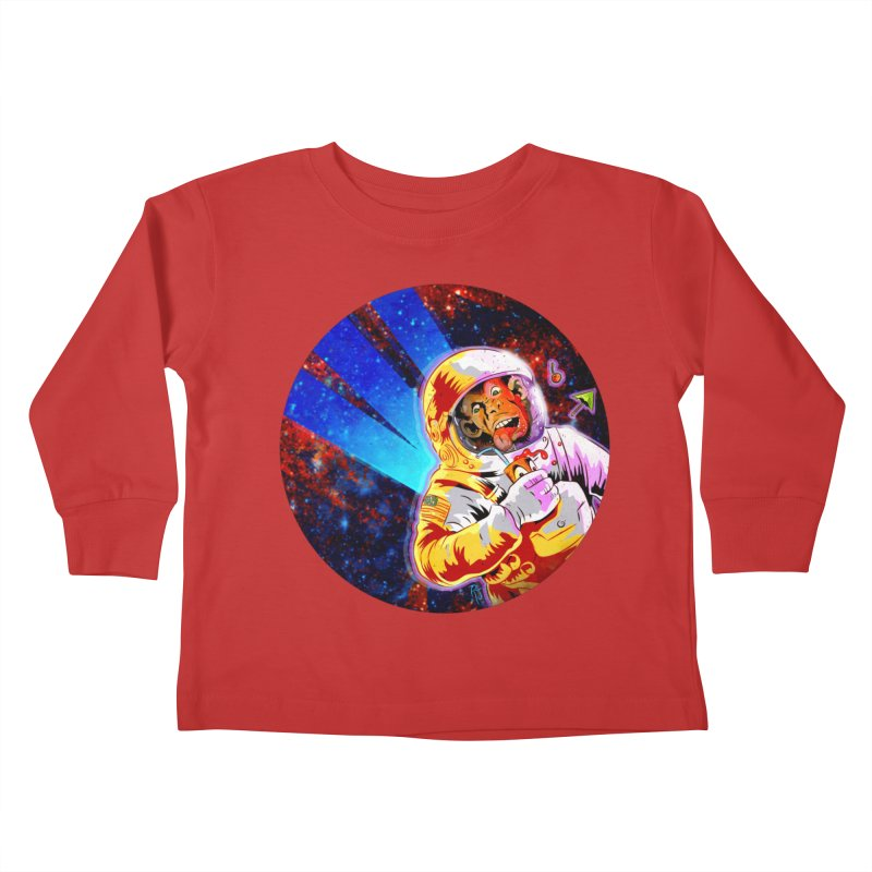 SPACE CHIMP Kids Toddler Longsleeve T-Shirt by Zerostreet's Artist Shop