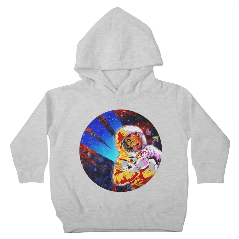 SPACE CHIMP Kids Toddler Pullover Hoody by Zerostreet's Artist Shop