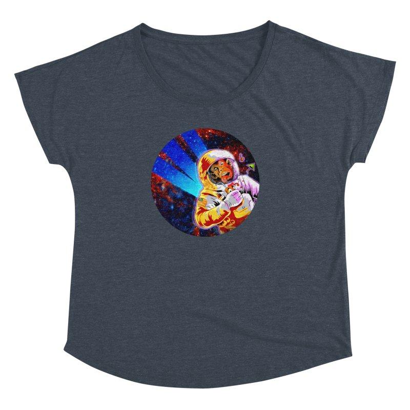 SPACE CHIMP Women's Dolman Scoop Neck by Zero Street's Artist Shop