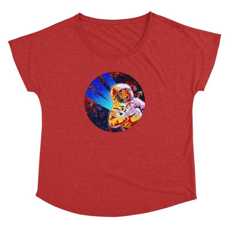SPACE CHIMP Women's Dolman Scoop Neck by Zerostreet's Artist Shop