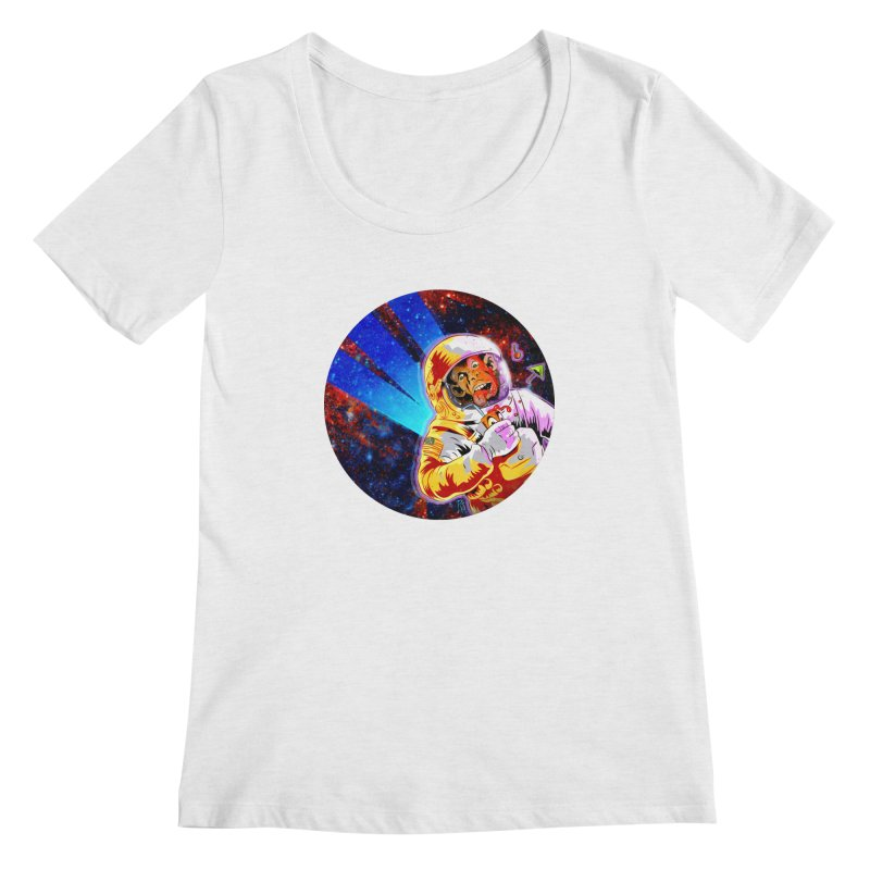 SPACE CHIMP Women's Regular Scoop Neck by Zerostreet's Artist Shop