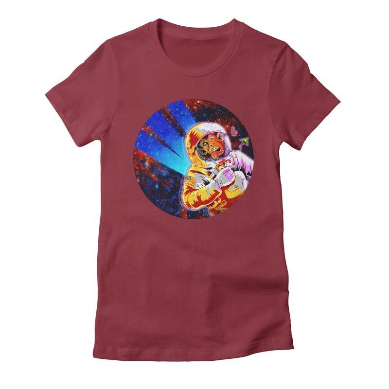 SPACE CHIMP Women's Fitted T-Shirt by Zerostreet's Artist Shop