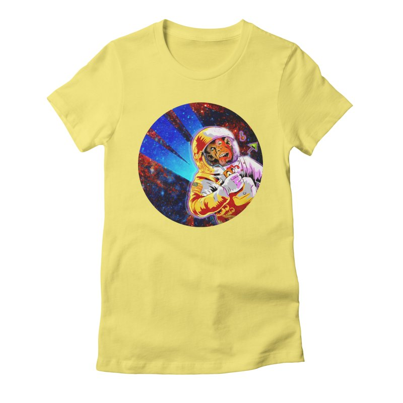 SPACE CHIMP Women's Fitted T-Shirt by Zero Street's Artist Shop