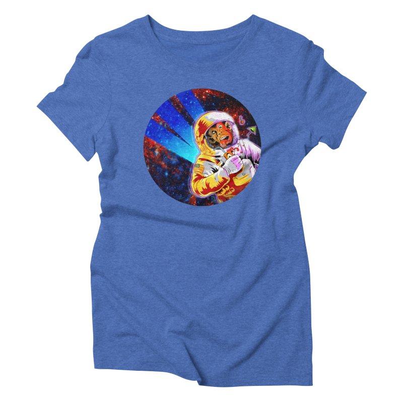 SPACE CHIMP Women's Triblend T-Shirt by Zerostreet's Artist Shop