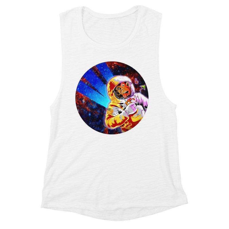 SPACE CHIMP Women's Muscle Tank by Zero Street's Artist Shop