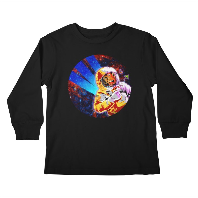 SPACE CHIMP Kids Longsleeve T-Shirt by Zero Street's Artist Shop