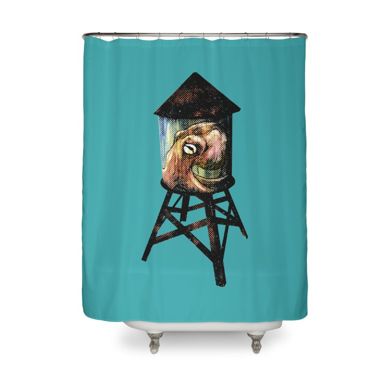Octopus Water Tower Home Shower Curtain by Zerostreet's Artist Shop