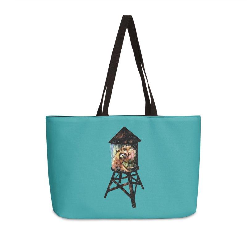Octopus Water Tower Accessories Weekender Bag Bag by Zero Street's Artist Shop