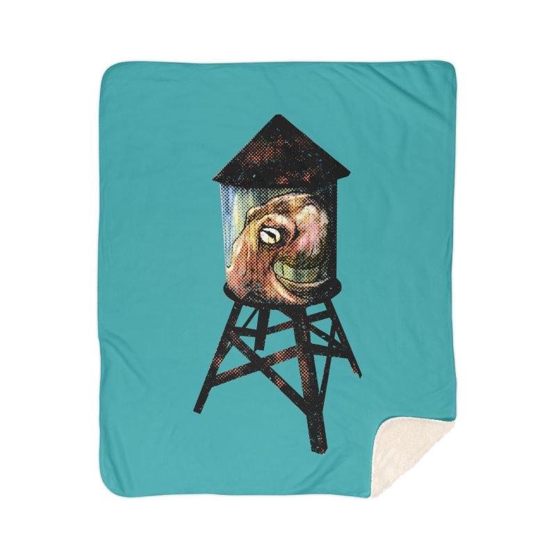 Octopus Water Tower Home Sherpa Blanket Blanket by Zerostreet's Artist Shop
