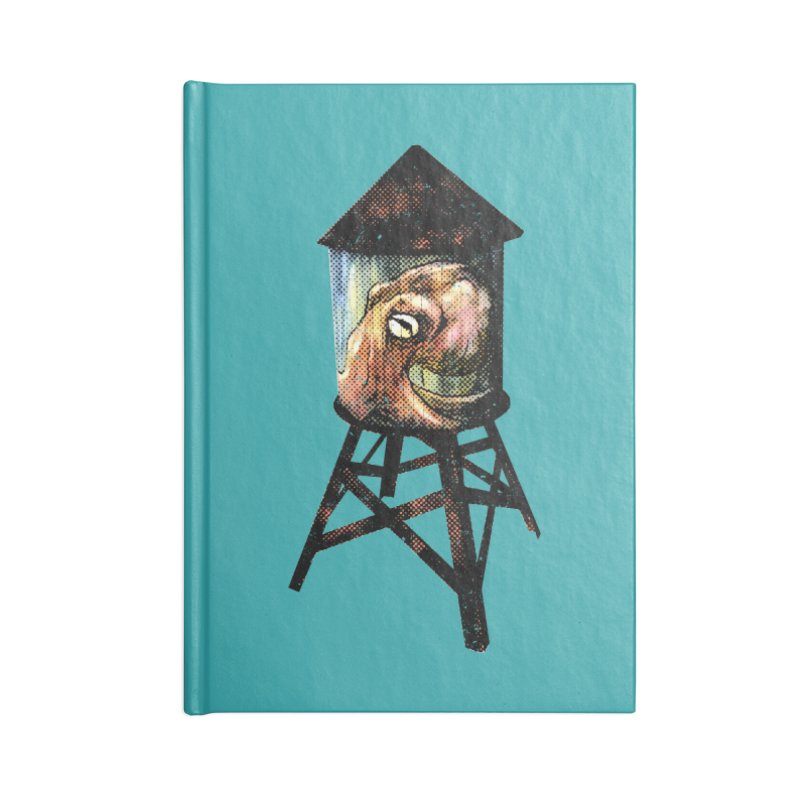 Octopus Water Tower Accessories Lined Journal Notebook by Zero Street's Artist Shop