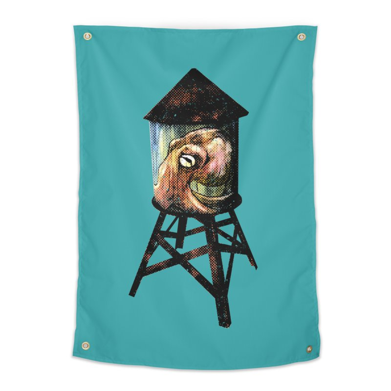 Octopus Water Tower Home Tapestry by Zerostreet's Artist Shop