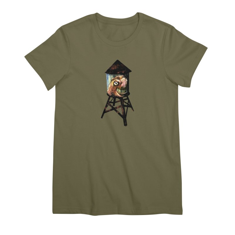 Octopus Water Tower Women's Premium T-Shirt by Zero Street's Artist Shop