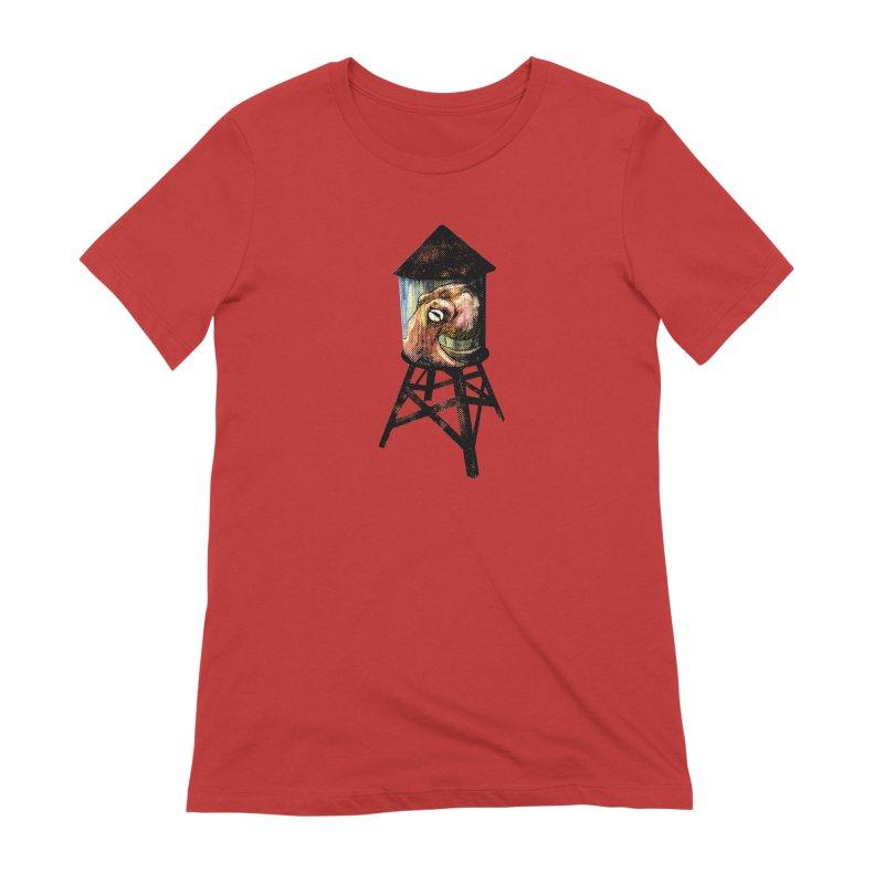 Octopus Water Tower Women's Extra Soft T-Shirt by Zerostreet's Artist Shop