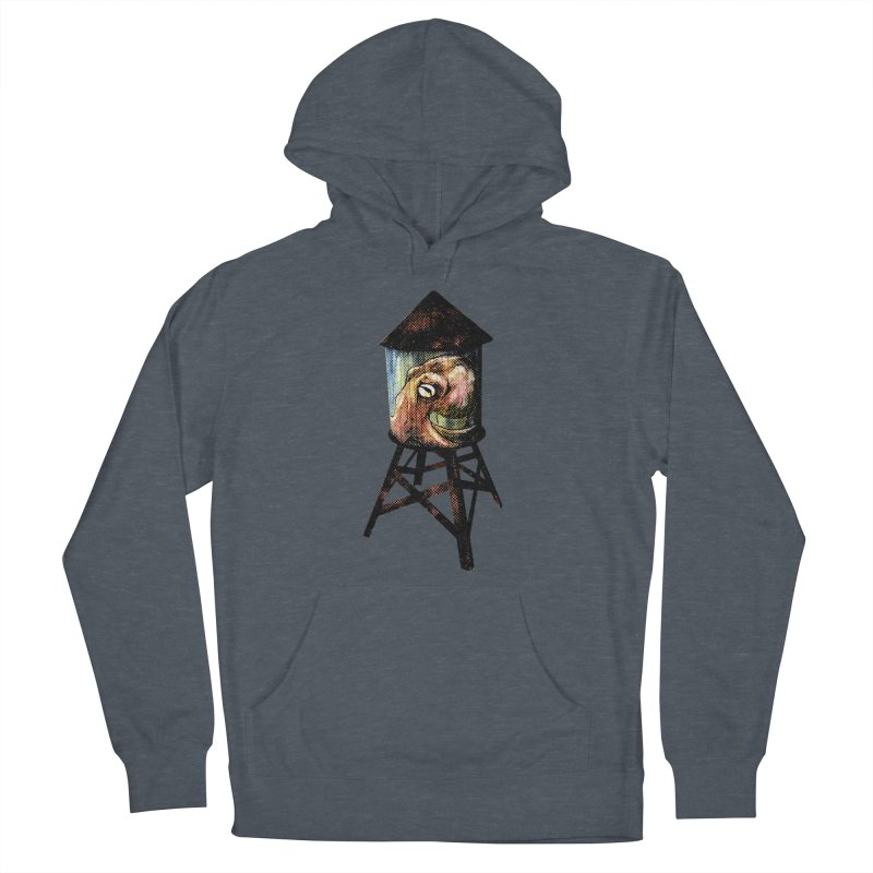 Octopus Water Tower Women's French Terry Pullover Hoody by Zerostreet's Artist Shop
