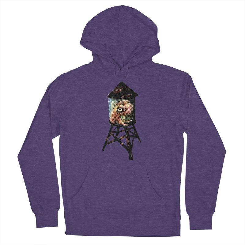 Octopus Water Tower Men's French Terry Pullover Hoody by Zero Street's Artist Shop
