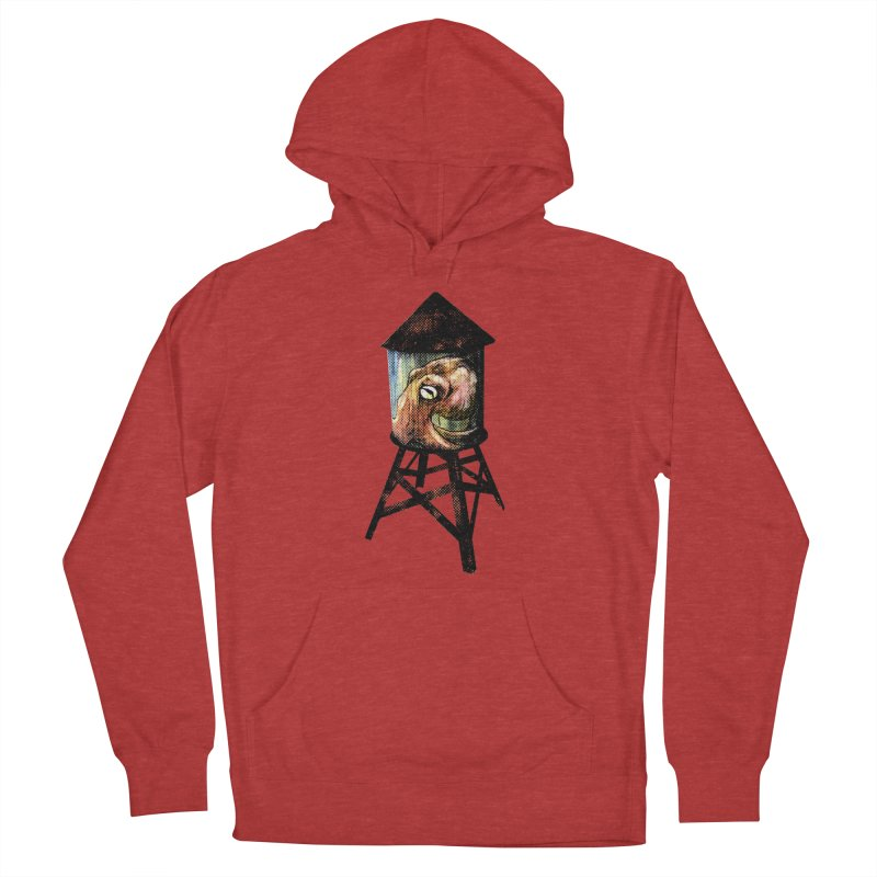 Octopus Water Tower Men's French Terry Pullover Hoody by Zerostreet's Artist Shop