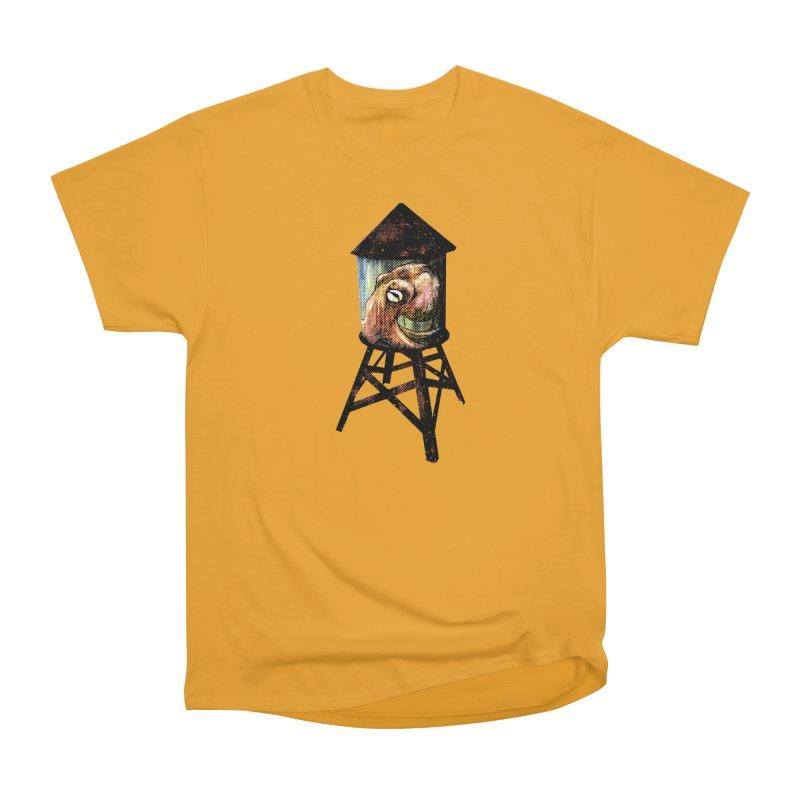 Octopus Water Tower Women's Heavyweight Unisex T-Shirt by Zerostreet's Artist Shop