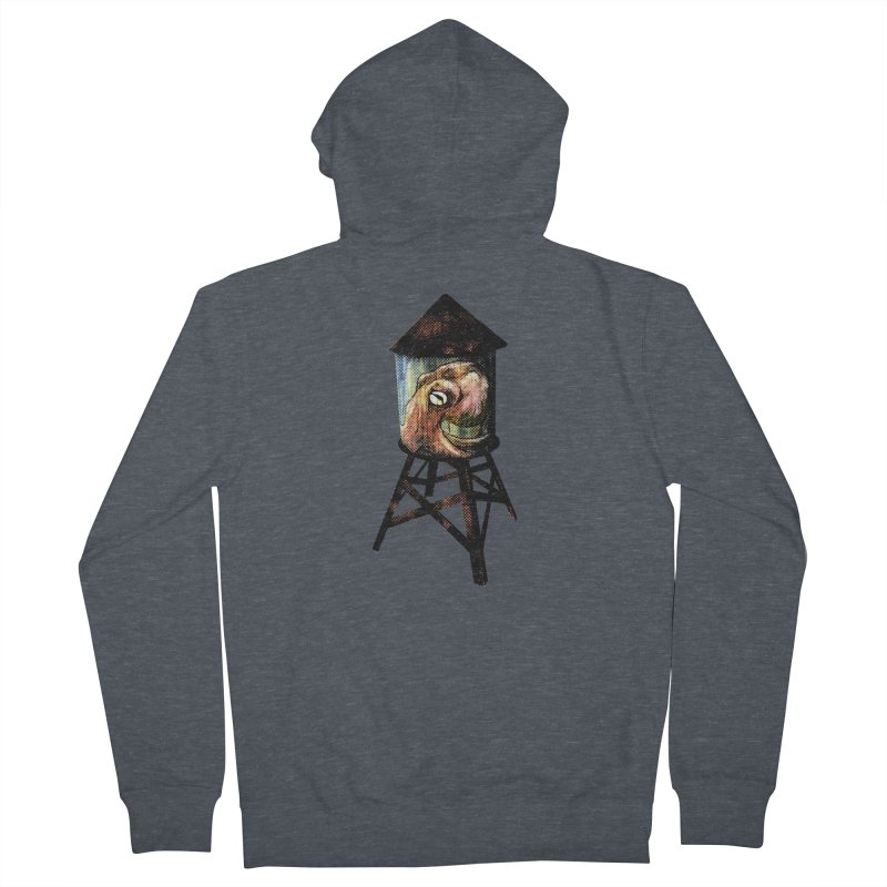 Octopus Water Tower Women's French Terry Zip-Up Hoody by Zero Street's Artist Shop